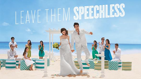 Beach Wedding speechless